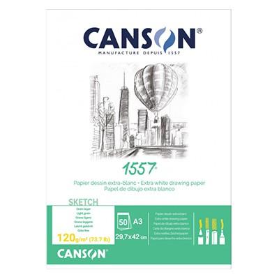 Szkicownik Canson 1557, 50 kartek A3, 120g