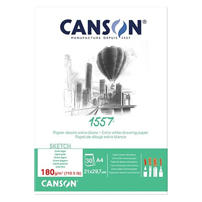 Blok rysunkowy Canson 1557, 30 kartek A4, 180g
