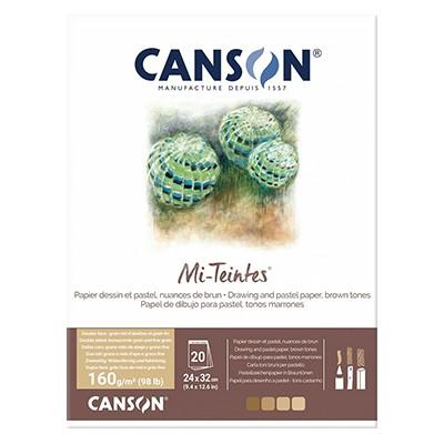Blok Mi-Teintes - odcienie brązu, Canson, 24x32cm, 20 ark. 160 g