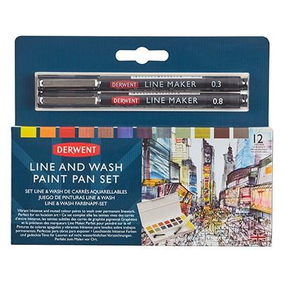 Line And Wash Paint Pan Set Derwent