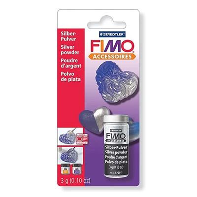 Srebrny, puder metalizujący do mas plastycznych FIMO, 3g