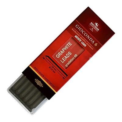 Wkłady grafitowe do ołówka typu Kubuś, 6 x 5.6mm (6B), czarny