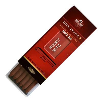 Wkłady do ołówka typu Kubuś, 6 x 5.6mm, czerwona sepia