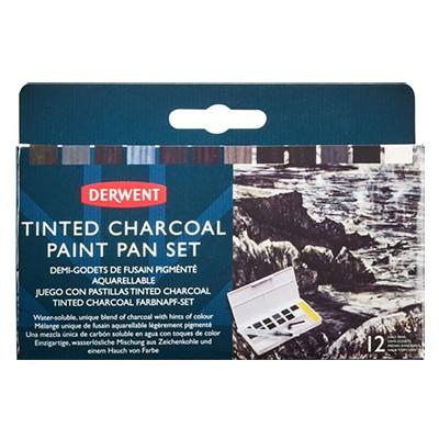 Tinted Charcoal Paint Pan Set