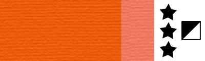 727 Transparent orange, artystyczna farba olejna Lefranc 40ml
