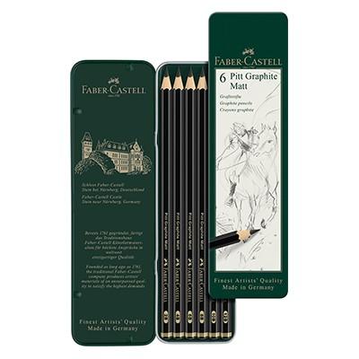 Ołówki grafitowe Pitt Graphite Matt, Faber-Castell, 6 szt.