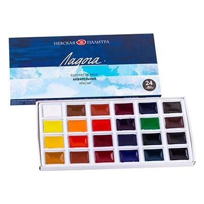 Farby akwarelowe, Ładoga, 24 kolory