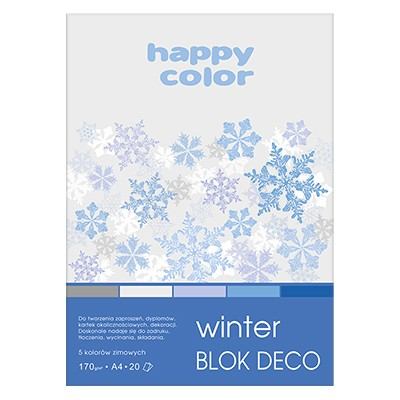 blok kolorowy deco winter