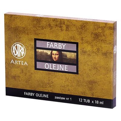 Farby olejne Artea set 1