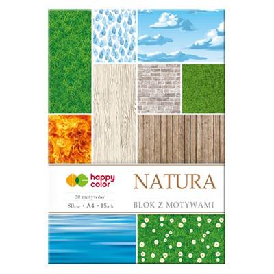 Blok z motywami Natura Happy Color