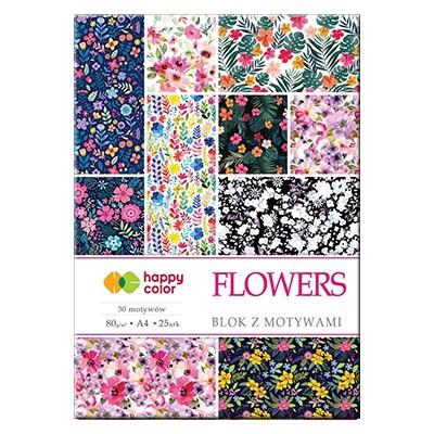 Blok z motywami Flowers Happy Color