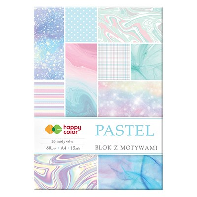 Blok z motywami Pastel Happy Color