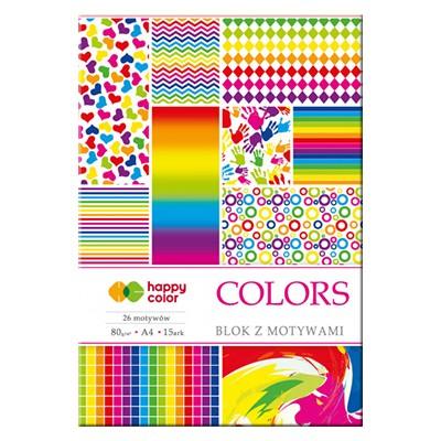 Blok z motywami colors Happy Color