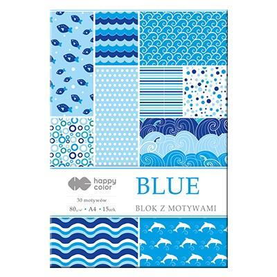Blok z motywami blue Happy Color