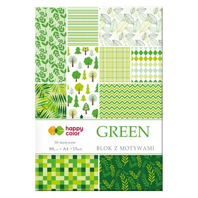 Blok z motywami green Happy Color