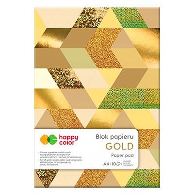 blok holograficzny happy color gold
