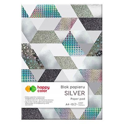 blok holograficzny silver