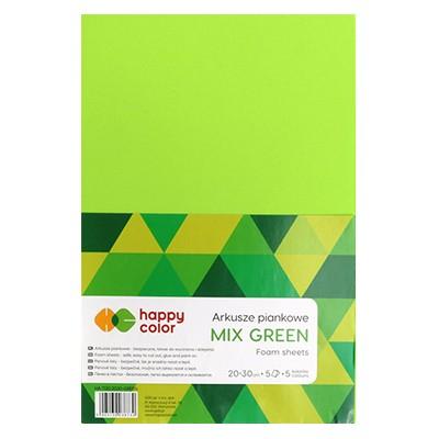 zielone arkusze piankowe