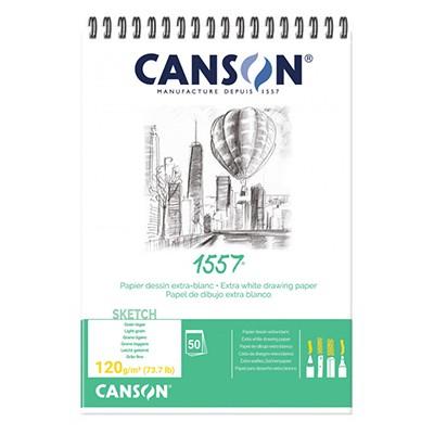 Szkicownik na spirali Canson 1557 120g