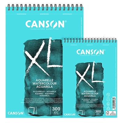 Blok do akwareli Canson XL spirala A4