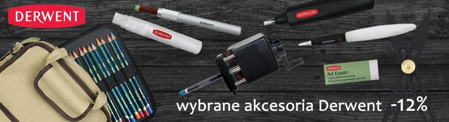 Akcesoria Derwent do rysunku Skalówki, temperówki, gumki 12% gratis