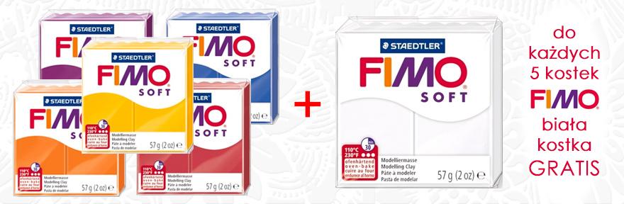 Przy zakupie 5 kostek FIMO Soft - Biała kostka GRATIS!