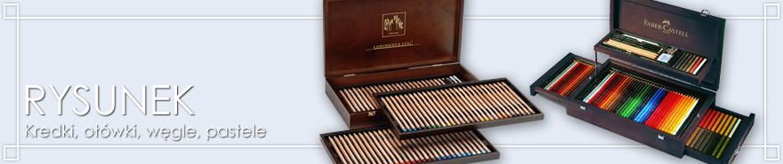 Kredki, węgle, ołówki, pastele na prezent