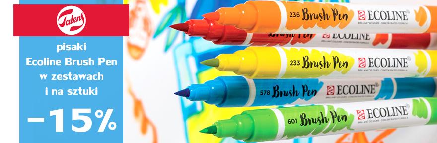 Pisaki Ecoline Brush Pen Talens 15% TANIEJ - pojedyncze kolory i zestawy