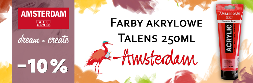 Farby Talens Amsterdam Akryl 10% taniej