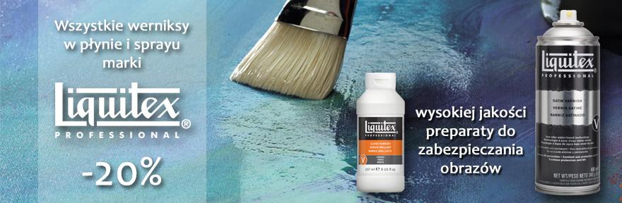 Werniksy do farb akrylowych Liquitex 20% taniej