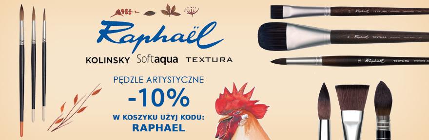 Pędzle Raphael 10% taniej z kodem RAPHAEL