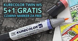 Markery Kuretake Kurecolor – przy zakupie 5 sztuk, pisak w kolorze czarnym GRATIS!