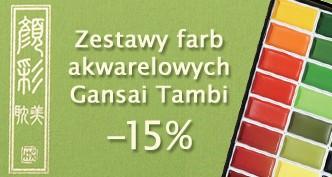 Farby akwarelowe Gansai Tambi 15% TANIEJ!