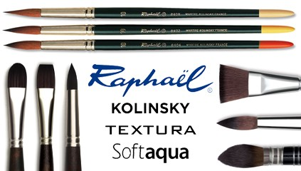 Pędzle Raphael Textura i Kolinsky 8402, 8404, 8408