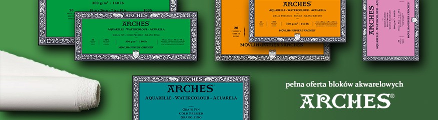 Arches - najlepsze bloki do farb akwarelowych! W Sklepie Plastycznym największy wybór formatów, gramatur i tekstur.