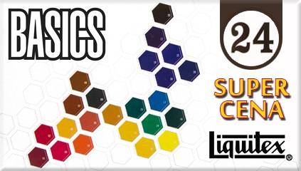Zestaw 24 wysokiej jakości farb akrylowych Liquitex Basics w najlepszej cenie na rynku - tylko 79,95 PLN!