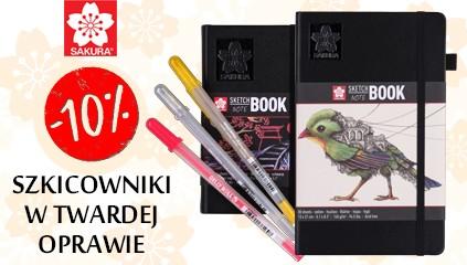 Nowe szkicowniki Sakura w twardej oprawie, z kremowym i czarnym papierem 10% TANIEJ!
