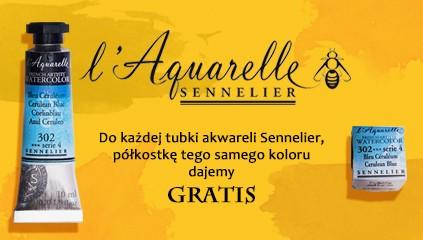 Farby akwarelowe Sennelier – do każdej tubki kostka GRATIS!