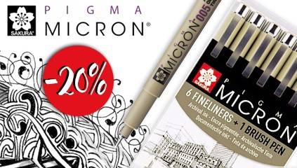 PROMOCJA Pisaki Pigma Micron minus 20 %