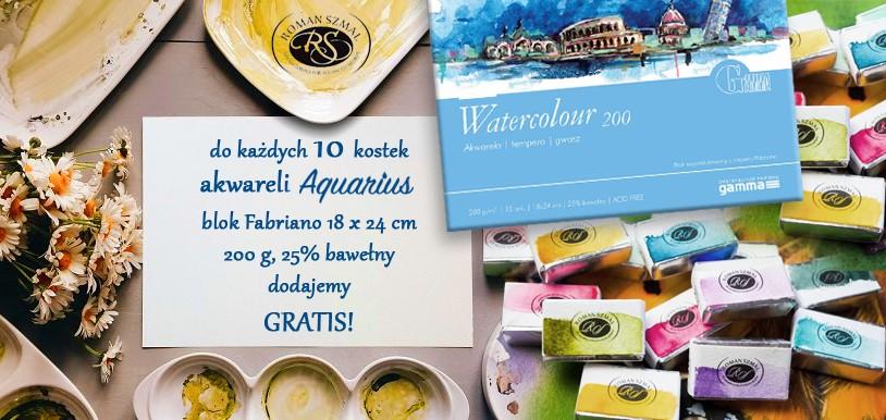 Akwarele Aquarius blok Fabriano gratis