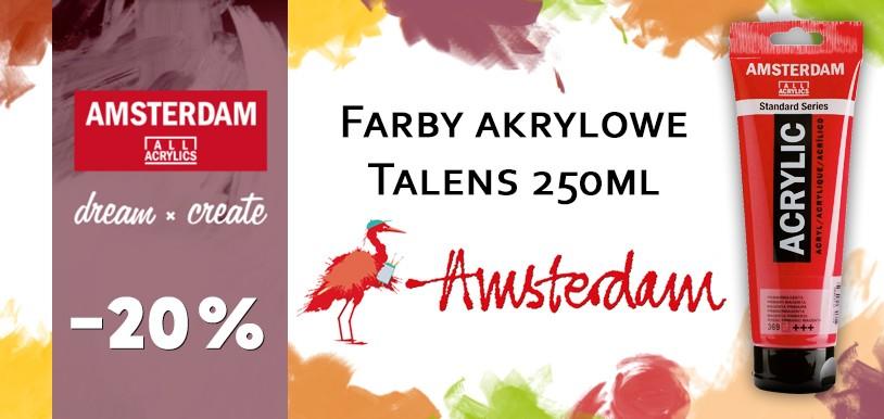 Talens Amsterdam farby akrylowe 250 ml TANIEJ o 20%