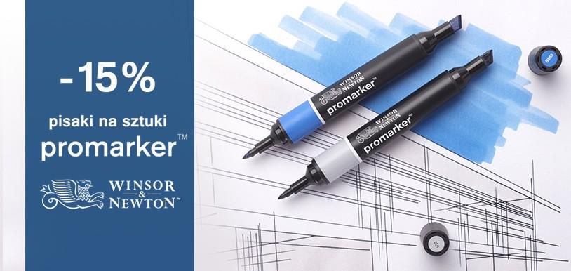 Promocja -15% na pisaki Promarker W&N
