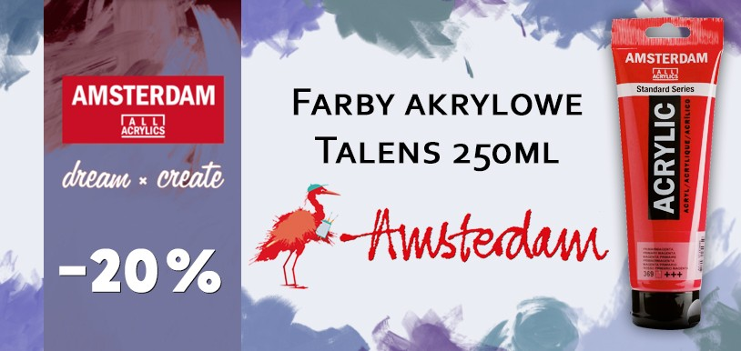Talens Amsterdam – farby akrylowe 250 ml 20% TANIEJ!