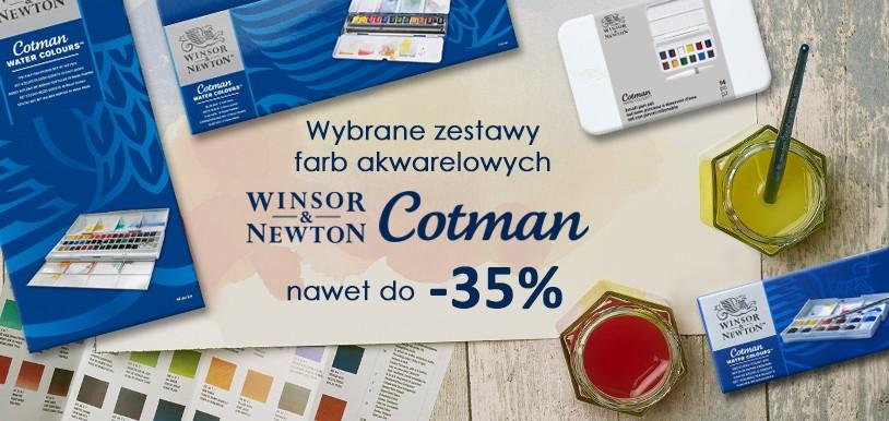 Farby akwarelowe Winsor&Newton Cotman w zestawach nawet 35% TANIEJ!