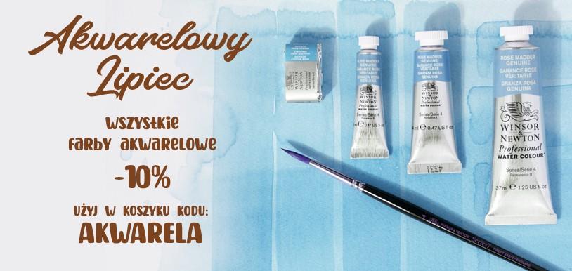 AKWARELOWY LIPIEC – wszystkie produkty z kategorii Farby Akwarelowe 10% TANIEJ – w koszyku użyj kodu AKWARELA