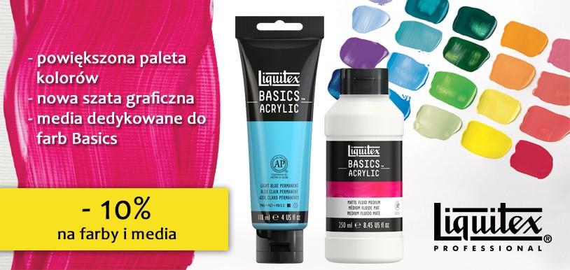 Farby akrylowe Liquitex – nowa szata graficzna, nowe kolory, dedykowane media i RABAT 10%