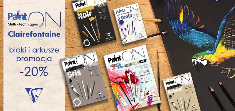 Clairefontaine PaintON - uniwersalny papier w blokach i arkuszach 20% TANIEJ!