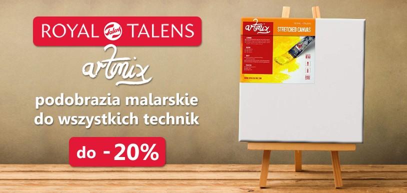 TANIEJ! Podobrazia bawełniane Talens ArtMix - do 20 % RABATU!